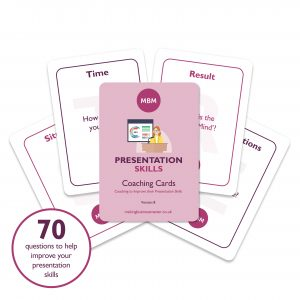 Five MBM Presentation coaching cards