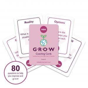 Five MBM GROW coaching cards