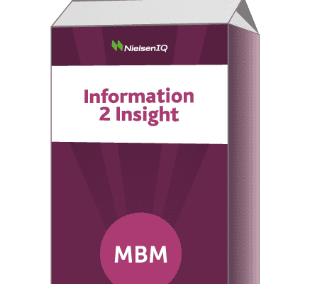 Purple carton with Information 2 Insight on the label