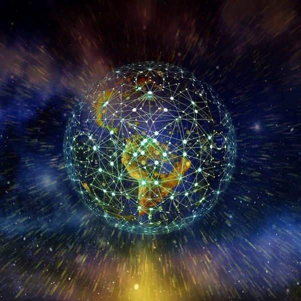 Image of interconnected Earth, Outsourcing