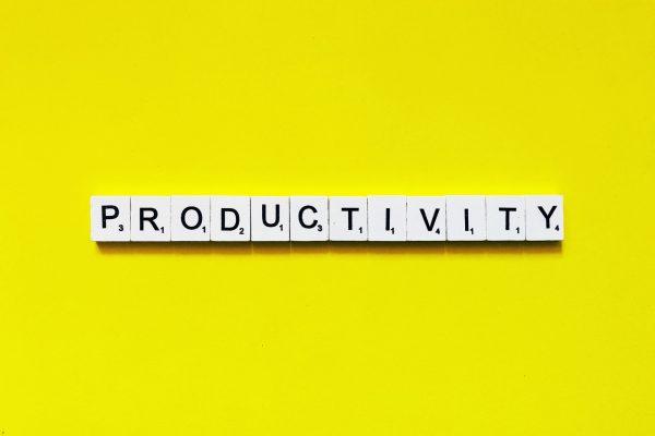 Productivity written in scrabble tiles