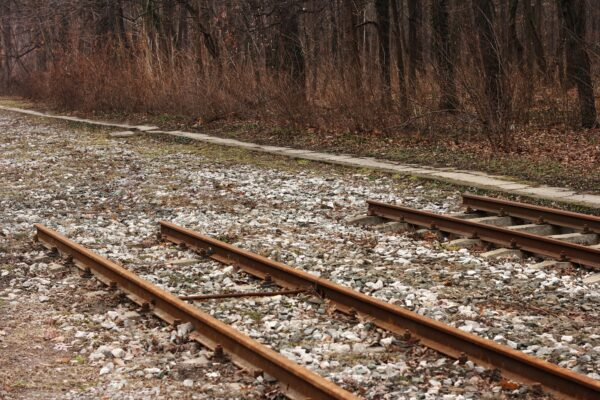 End of a railway track