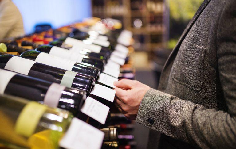 Supermarket wine category