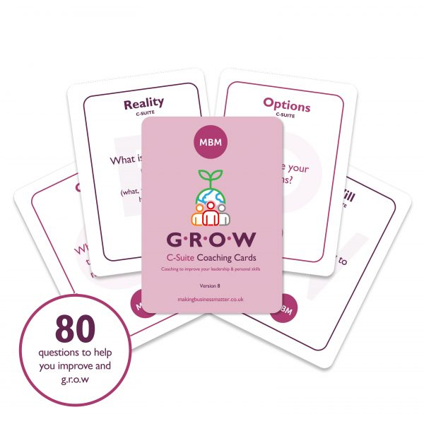 5 C-Suite Coaching Cards fanned out