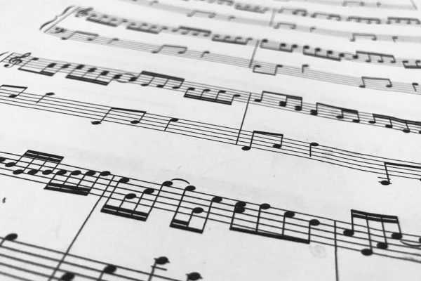 Close up of a music sheet