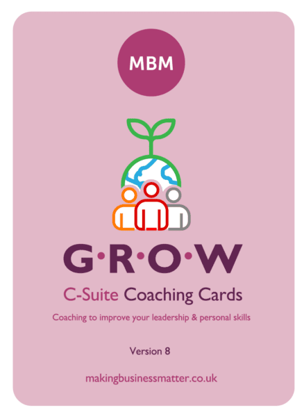 Front of C-suite coaching card