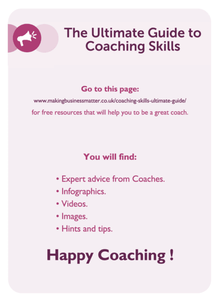C-suite coaching card titled The Ultimate Guide to Coaching Skill