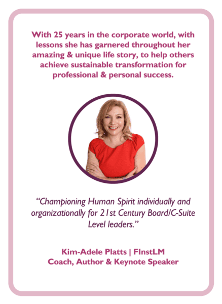 C-suite coaching card with Kim-Adele Platts