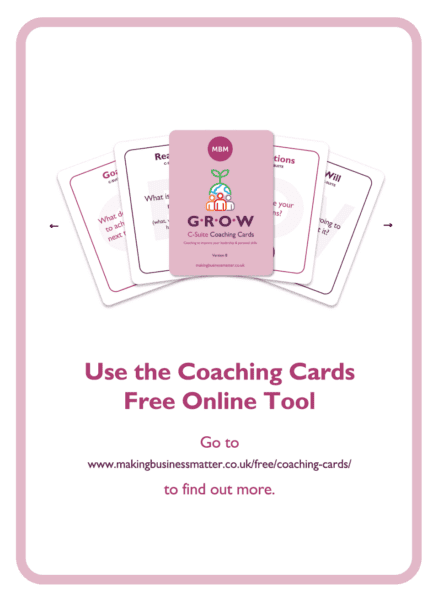C-suite coaching card titled Free Online Tool