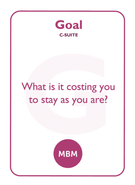 C-suite coaching card titled Goal