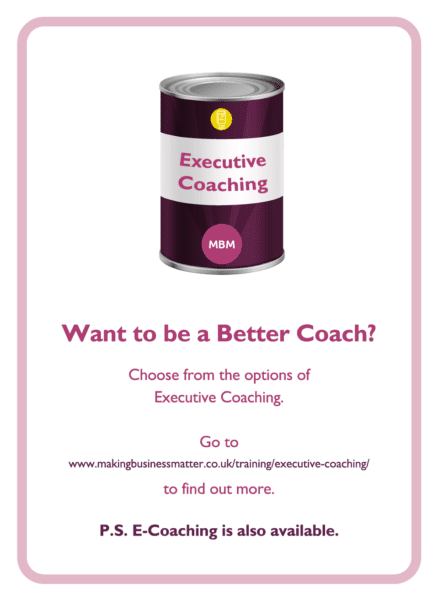 C-suite coaching card titled Better Coach