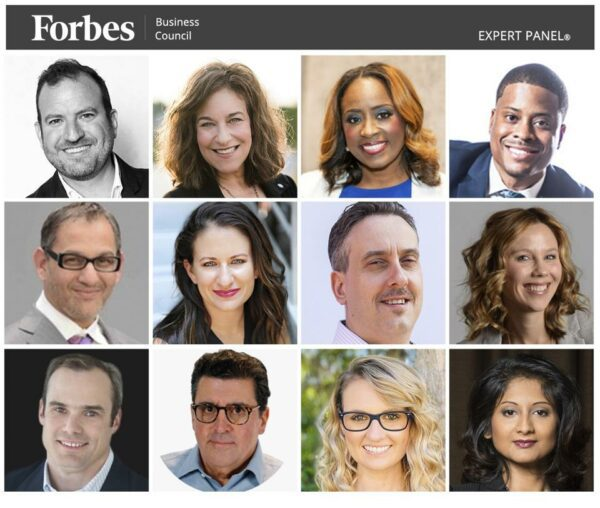 Collage of Forbes experts