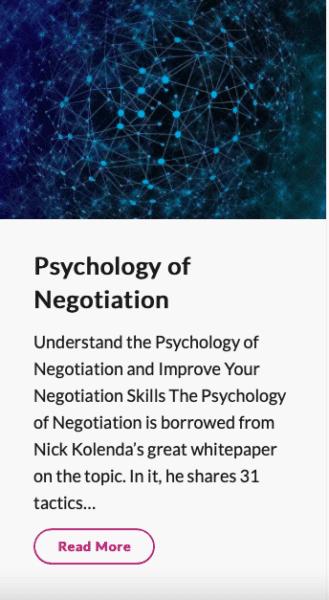 Screenshot of Psychology of Negotiation MBM article