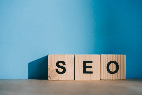 SEO written on alphabet blocks