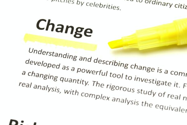 English meaning of change