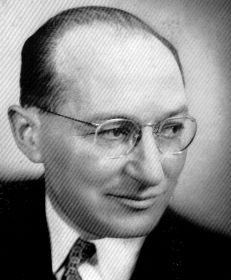 Black and white image of Dr Kurt Lewin who came up with autocratic, democratic and laissez faire leadership