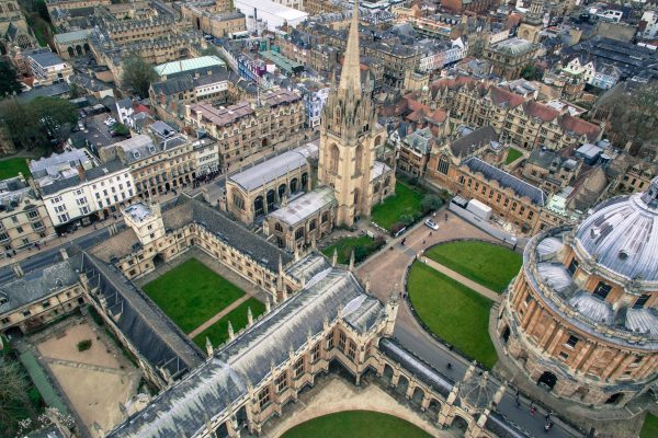 Top view of Oxford building
