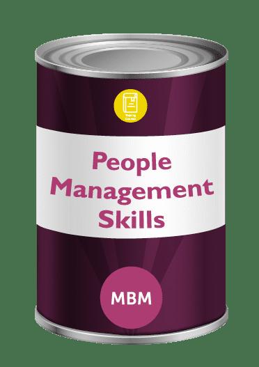 Purple tin with People Skills on label