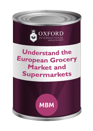 Purple tin with Understand the European Grocery market and supermarkets