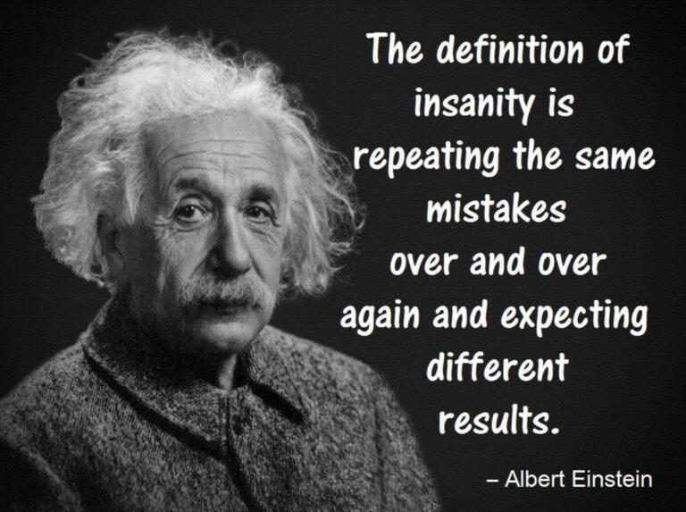 Einstein quote about insanity