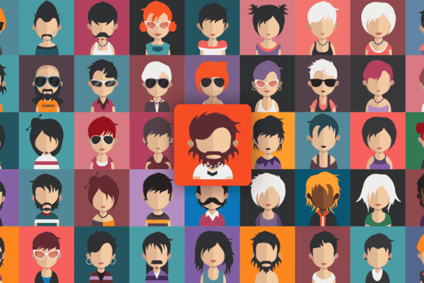Many cartoon avatars in a collage