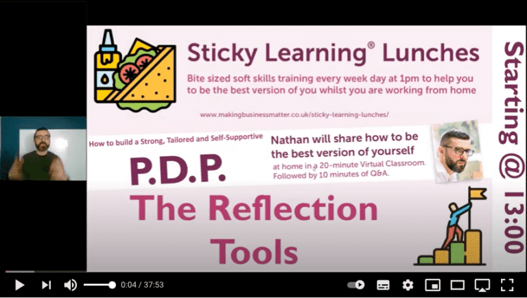 Screenshot from sticky learning lunch
