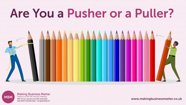 Push pull influencing infographic