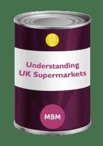 Purple tin with Understanding UK supermarkets on label