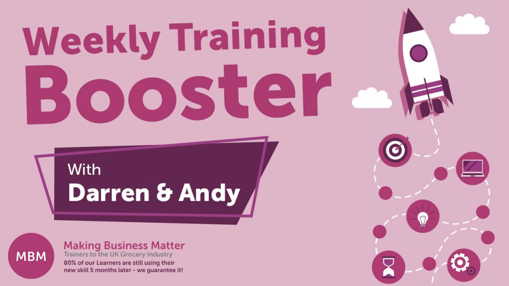 Weekly booster training graphic