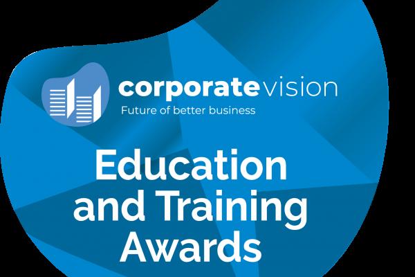 Blue Education and Training Award Logo