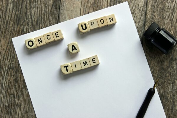 Once Upon a Time written in lettered tiles