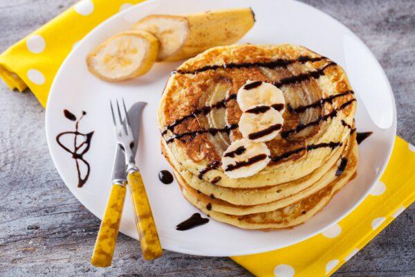 Pancake with banana.