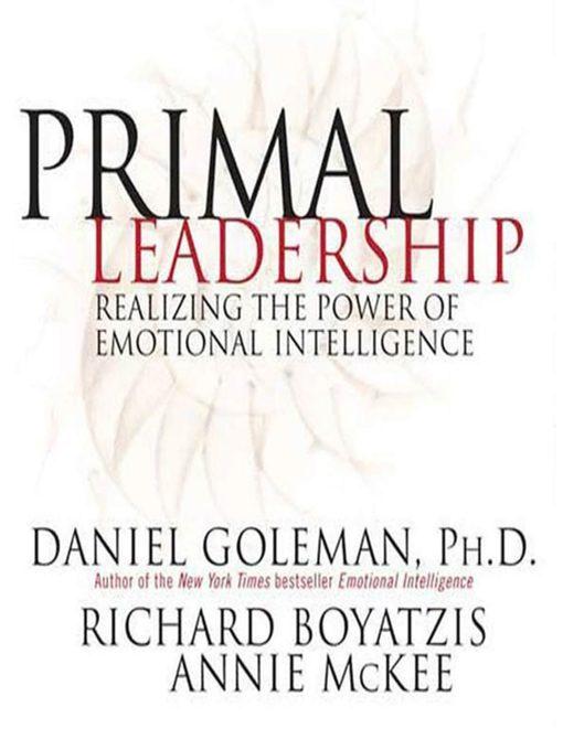 Book cover for Primal Leadership book