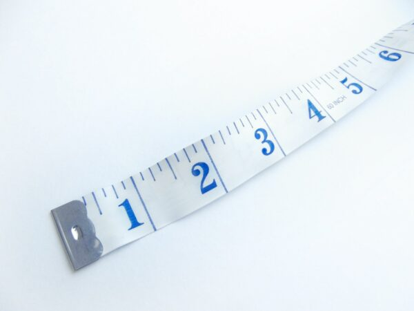 Inches on a measuring tape